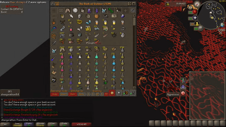 OSRS Cooking