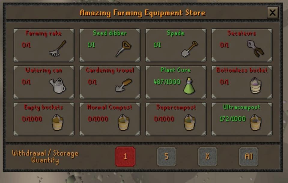Farming items