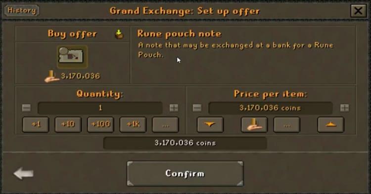 Rune Pouch Grand Exchange